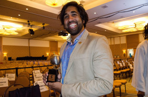 Vivek Tiwary with his Eisner