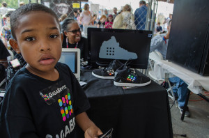 Young entrepreneur at Gigabryte at Maker Faire