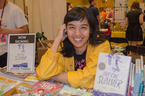 Jillian Tamaki at First Second table
